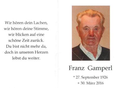 Franz Gamperl